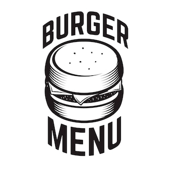Burger emblem.  element for logo, label, emblem, sign.