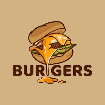 Burger fast food cartoon illustration
