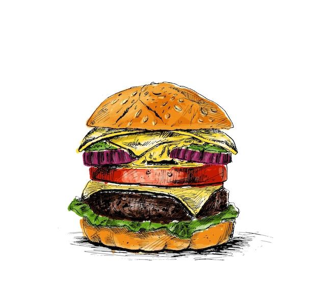 ハンバーガーファーストフードのコンセプト