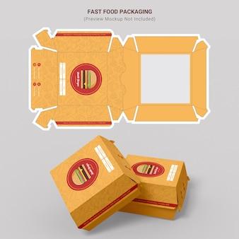Burger fast food packaging design