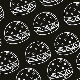 햄버거 패스트 푸드 원활한 패턴