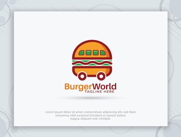 Дизайн логотипа бургер хаус Premium векторы