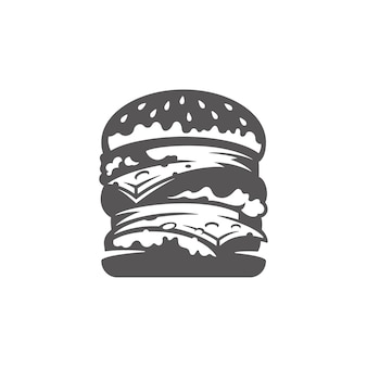 Burger icon isolated illustration