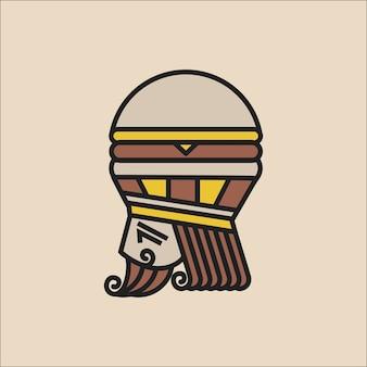 Концепция логотипа burger king