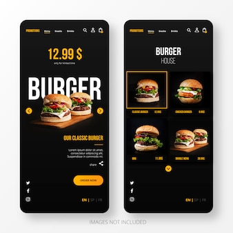 Burger Landing Page for Mobile