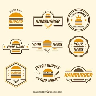 Burger logo colection