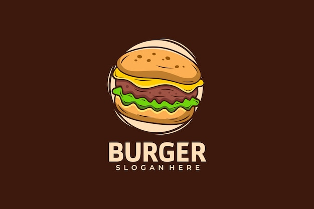 Burger logo design template
