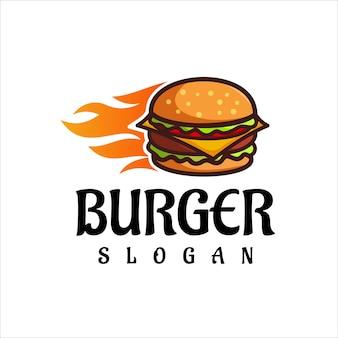 Burger logo design vector fast food restaurant and cafe symbol