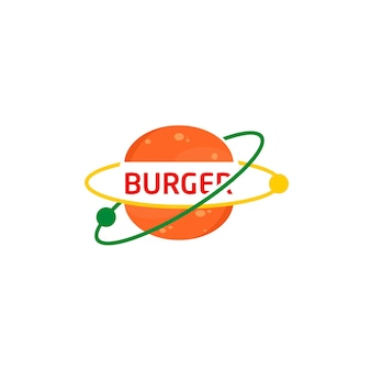 Бургер логотип символ быстрого питания