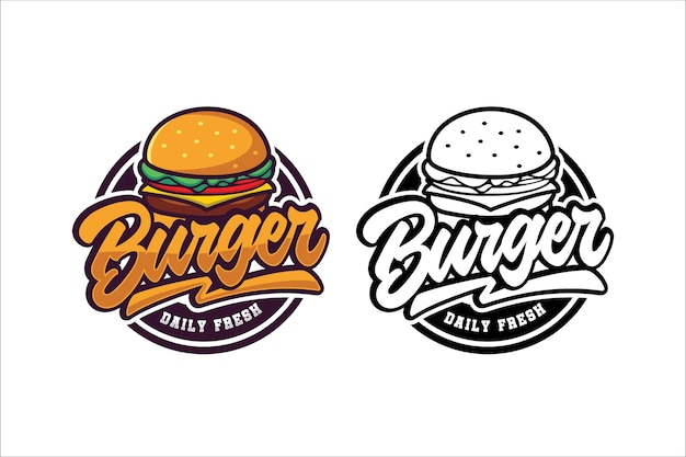 Burger logo template collection