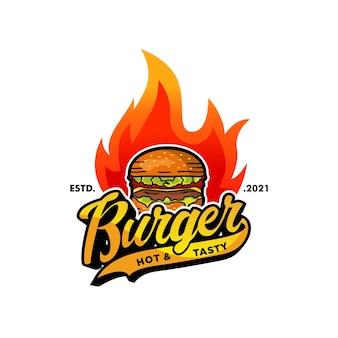 Шаблон логотипа бургера
