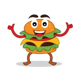 Burger mascot character design