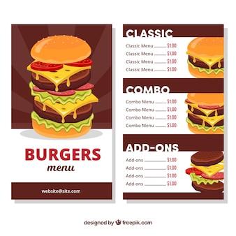 Burger menu template