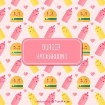 Burger pattern background