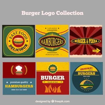 Коллекция логотипа ресторана burger