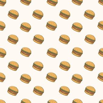 バーガーシームレスパターン