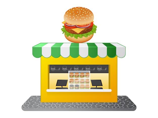 Магазин бургеров. милый магазин