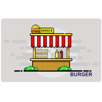 Burger, shopping cart