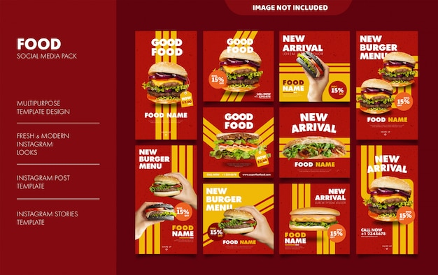 Burger stories and feed template