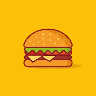 Burger vector illustration, fast food