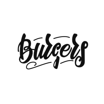 Burgers lettering