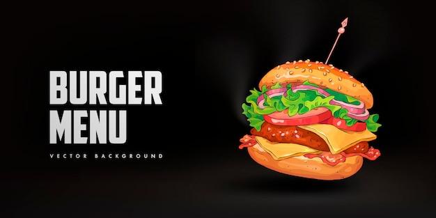 햄버거 레스토랑 배너 서식 파일