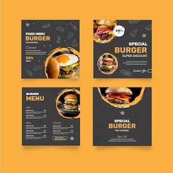 ハンバーガーレストランのinstagramの投稿