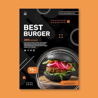 Modello di poster del ristorante di hamburger