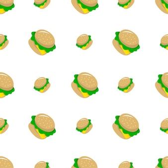 Burgers seamless pattern