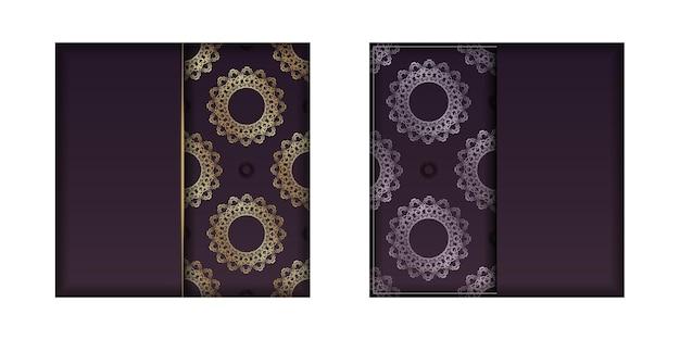 おめでとうございます。インドの金の装飾品が入ったブルゴーニュのパンフレット。