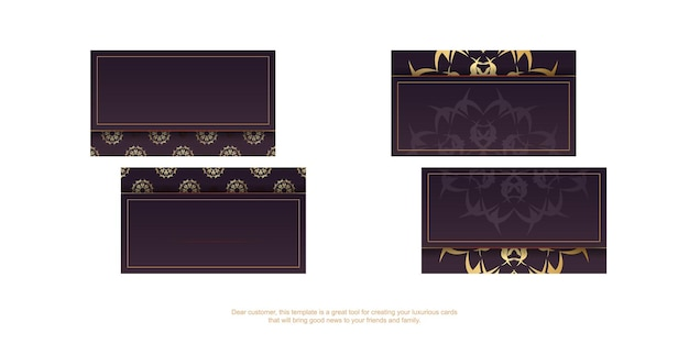 Бордовая визитка с греческим золотым орнаментом для вашей индивидуальности.