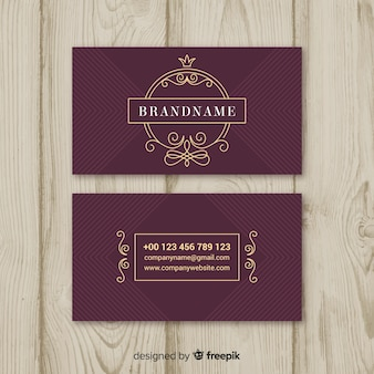 Burgundy elegant business card