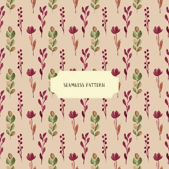 ブルゴーニュ花の水彩シームレスパターン