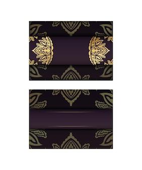 축하를 위해 빈티지 골드 장식이 있는 부르고뉴 엽서.