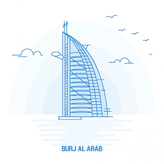 Burj al arab blue landmark