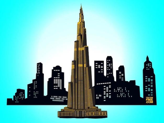 Burj dubai, dubai skyline