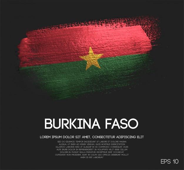 Burkina faso flag made of glitter sparkle brush paint vector
