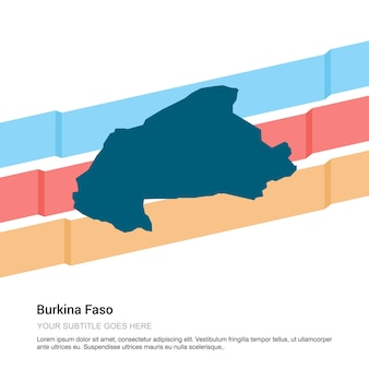 白背景ベクトルとブルキナの地図デザイン