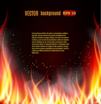 Burn flame fire background