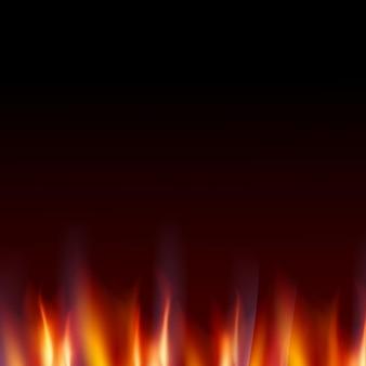 炎の火の暗い背景を燃やす