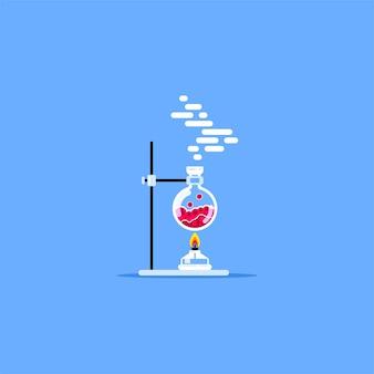 Горелка нагревательная колба с красной жидкостью