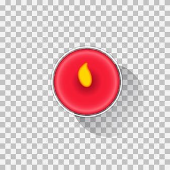 Burning aroma candle