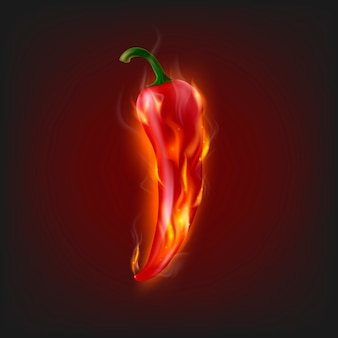 Burning chilli pepper
