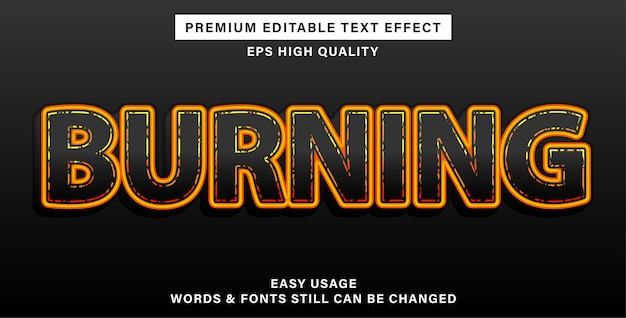 Burning editable text effect