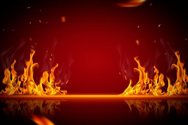 Горящий фон с эффектом пламени