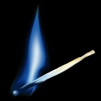 青い炎との燃焼マッチ