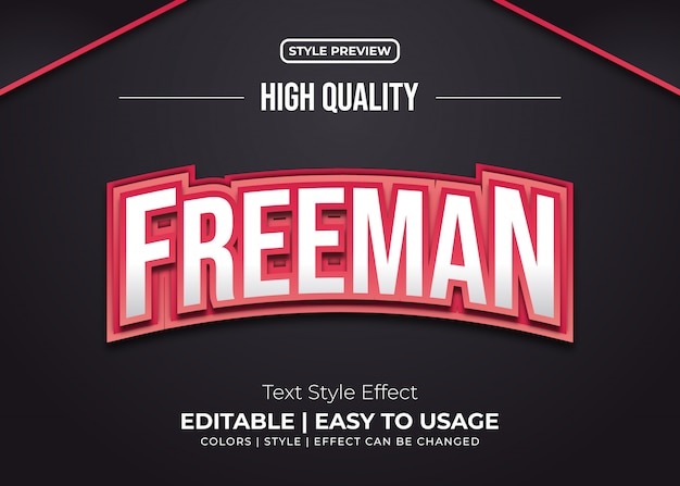 Burning red text style effect