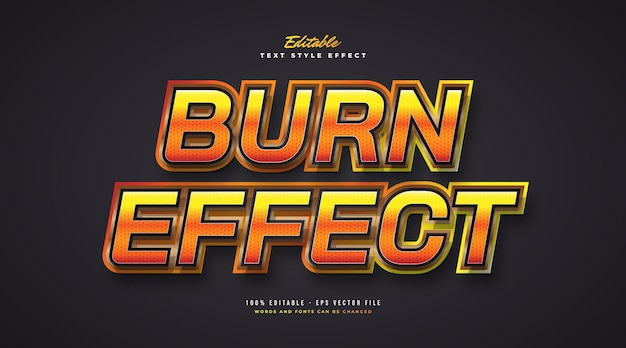 Burning text effect with glitter and glossy style. editable text style effect