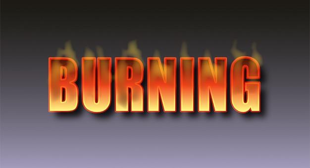 Burning text effect