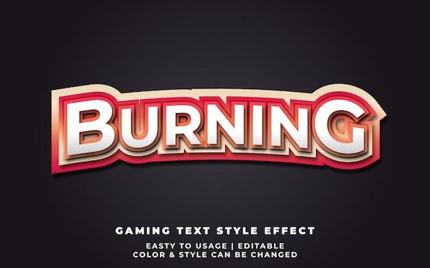 Эффект burning text style для идентичности команды e-sport